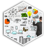 z2 Squared Managed Marketing Services Hex Button