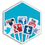z2 Squared Social Media Management Hex Button